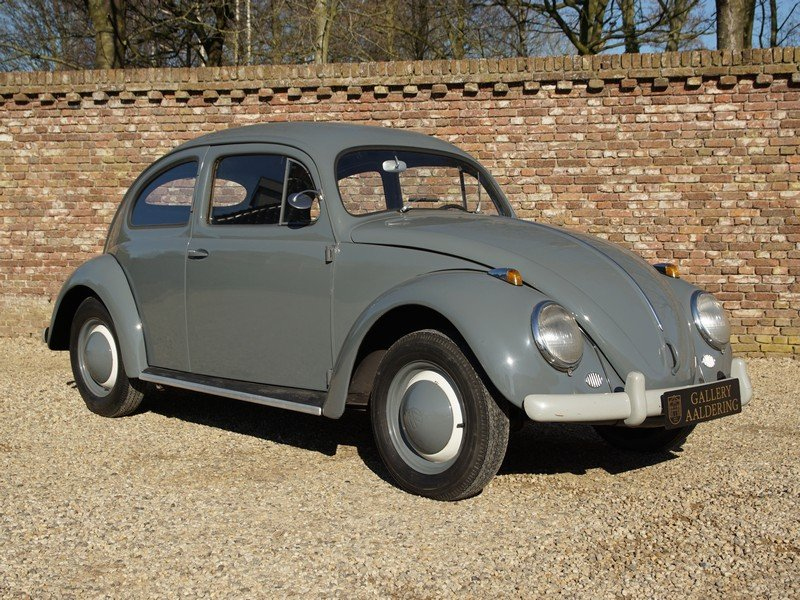 1955 Volkswagen Beetle Oval 1200 matching numbers, full known his For Sale (picture 5 of 6)