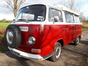 1972 VW Bay Window Camper with Pop Top. For Sale