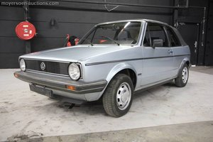 1981 VOLKSWAGEN Golf 1 Cabrio For Sale by Auction