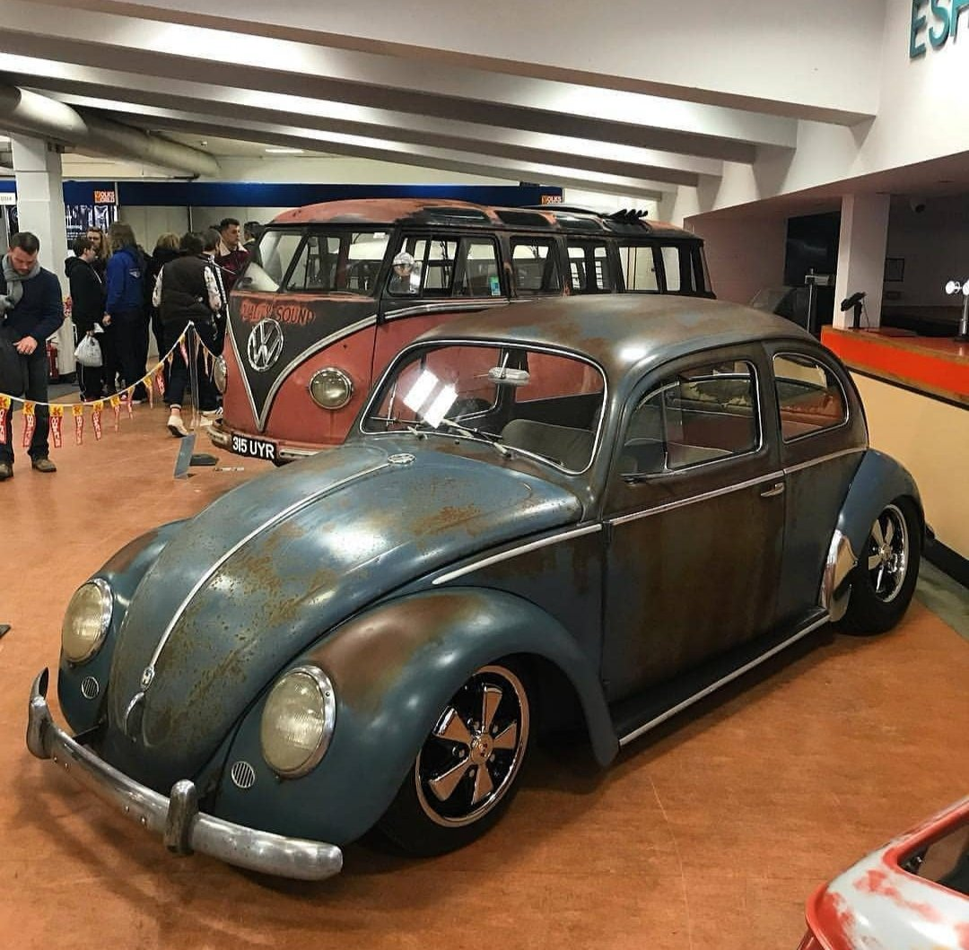 "1959 VW Beetle ""The Bitch"" Patina Queen Body Off Resto For"