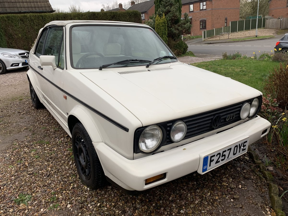 1988 VW MK1 Golf GTI Cabriolet 1.8 White Edition SOLD (picture 1 of 6)