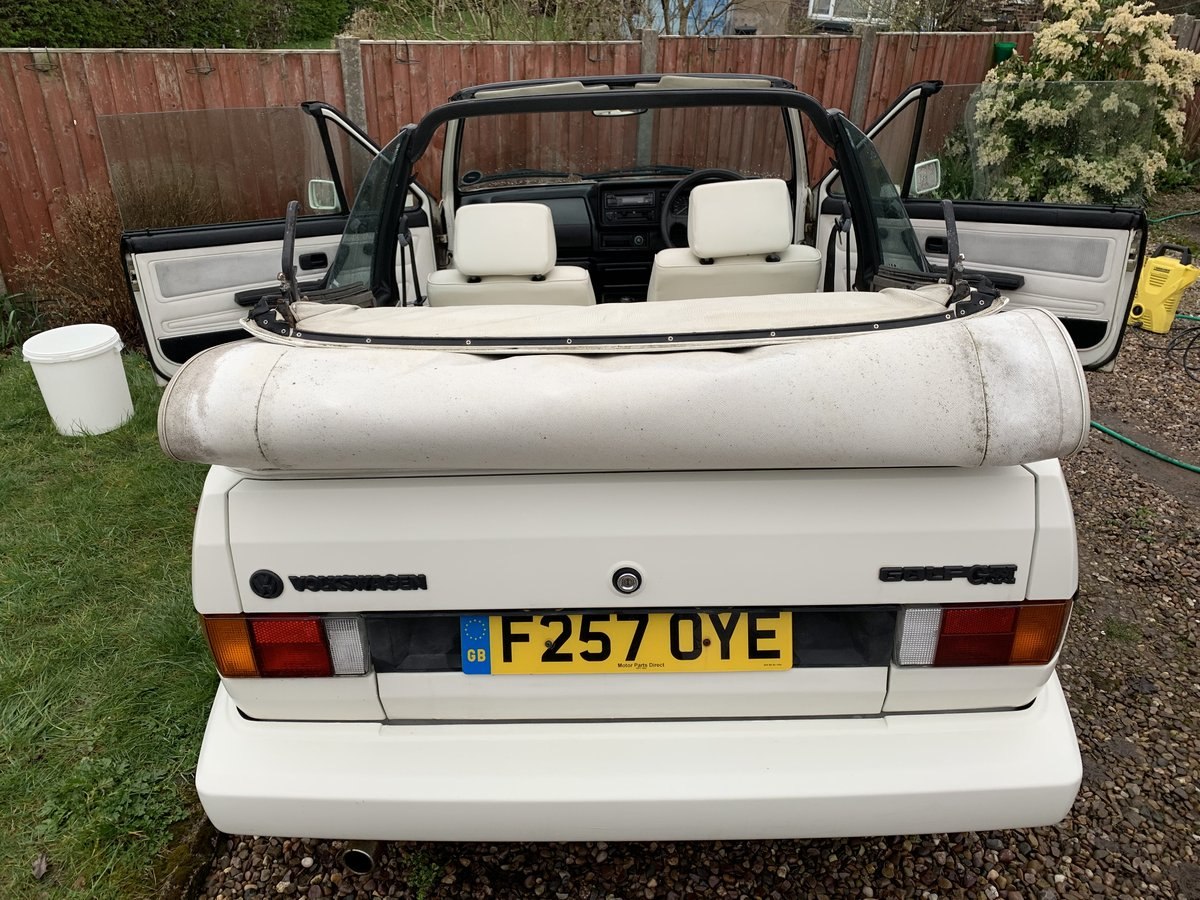 1988 VW MK1 Golf GTI Cabriolet 1.8 White Edition SOLD (picture 2 of 6)