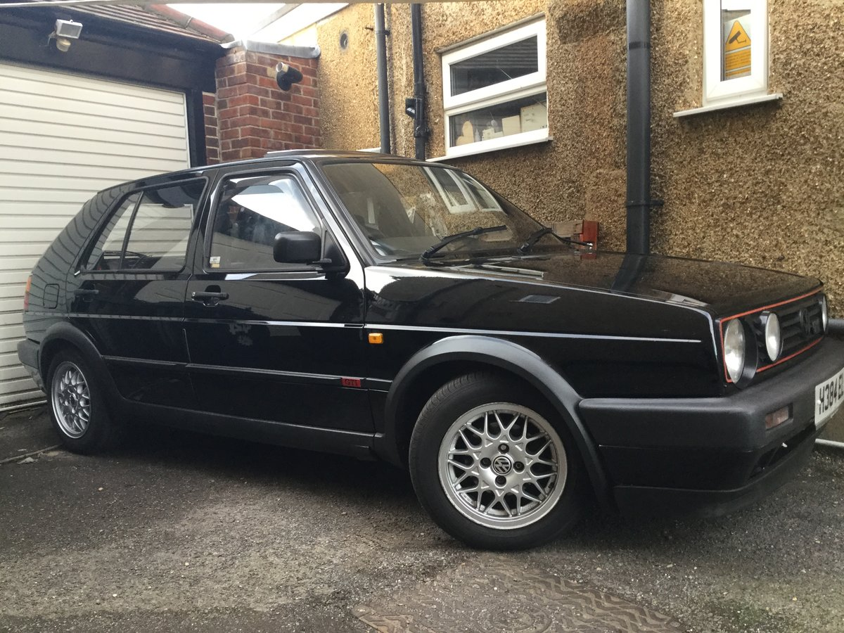 1990 Very original MK2 Golf GTi in Black, BBS alloys SOLD (picture 1 of 6)