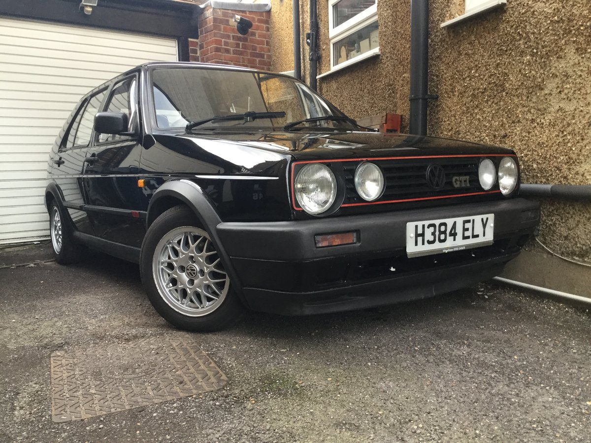 1990 Very original MK2 Golf GTi in Black, BBS alloys SOLD (picture 5 of 6)