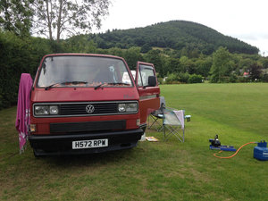 VW T25 1990 Twin Slider - new MOT For Sale