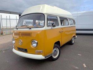 1971 Volkswagen Type 2 High Top Camper Van For Sale by Auction