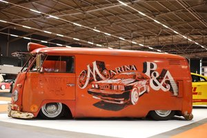 1957 Super Cool 50's Logo'd VW Panel Van Camper For Sale