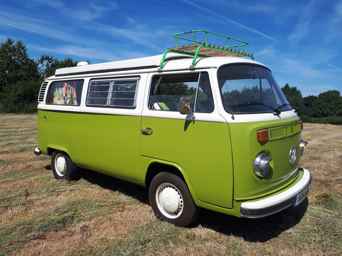 1976 VW Bay Window with Pop Top Roof For Sale (picture 1 of 6)