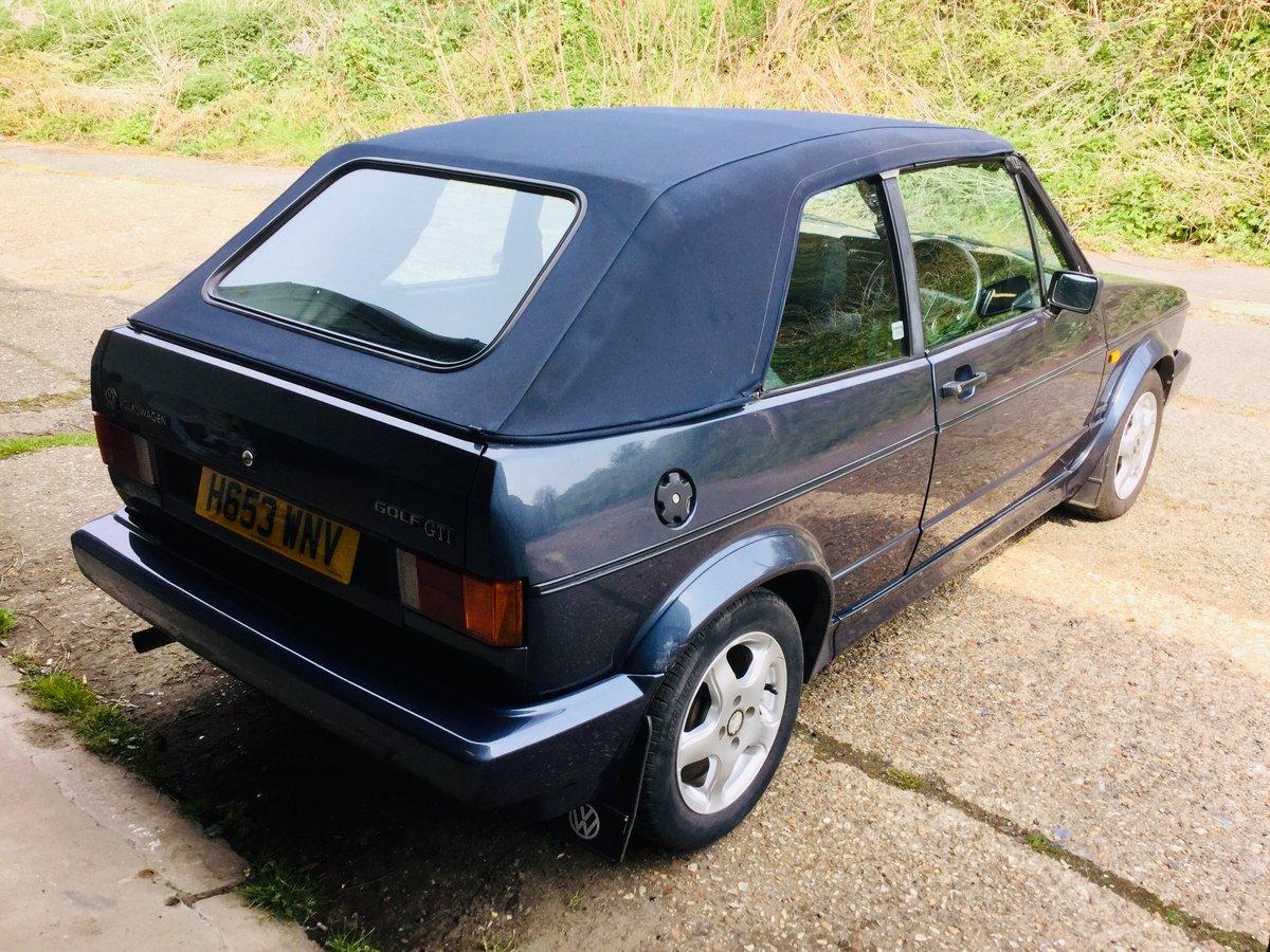 1990 volkswagen mk1 gti 1 8 golf cabriolet 6 owner sold. Black Bedroom Furniture Sets. Home Design Ideas