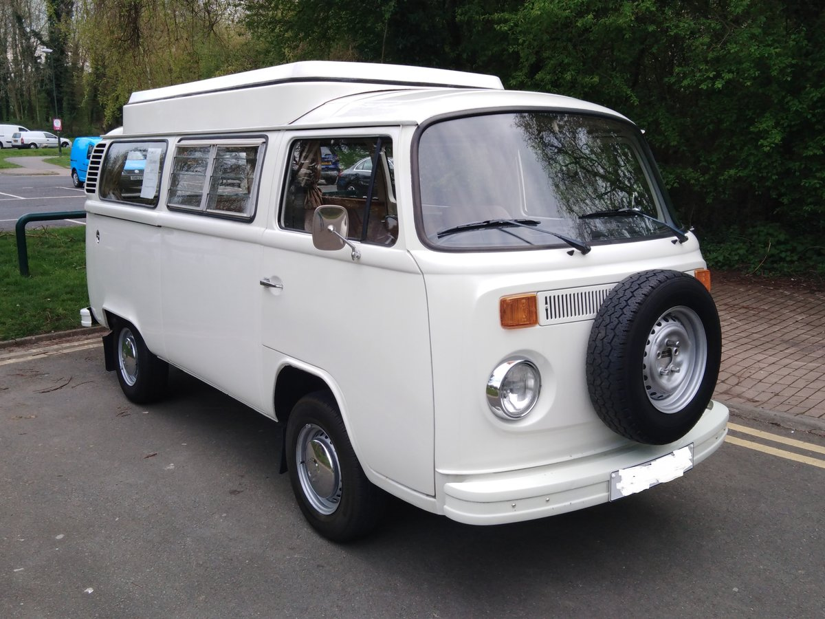 One owner from new 1977 VW Type 2 Camper Van For Sale (picture 1 of 6)
