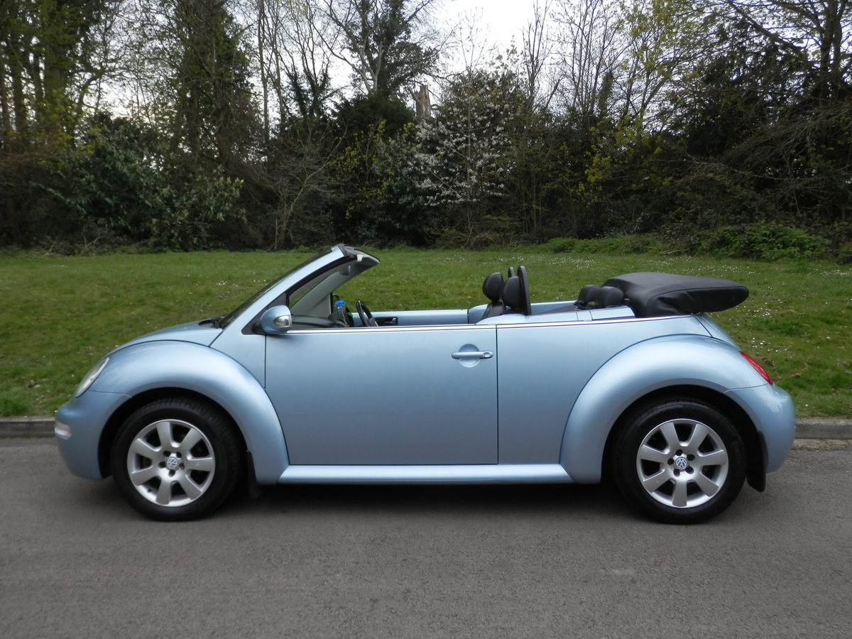 VW BEETLE CABRIOLET.. AUTO.. HIGHLINE.. VERY LOW MILES & FSH SOLD (picture 1 of 4)