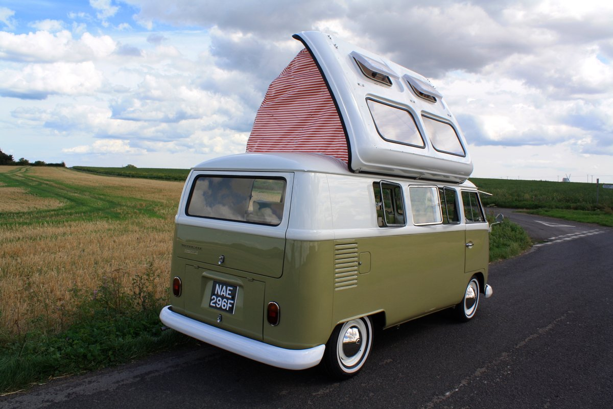 1967 VW Split Screen Camper Van – Pop Top RHD Walk Through. For Sale (picture 3 of 6)
