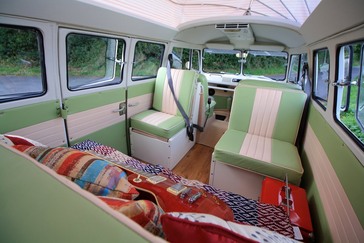 1967 VW Split Screen Camper Van – Pop Top RHD Walk Through. For Sale (picture 4 of 6)