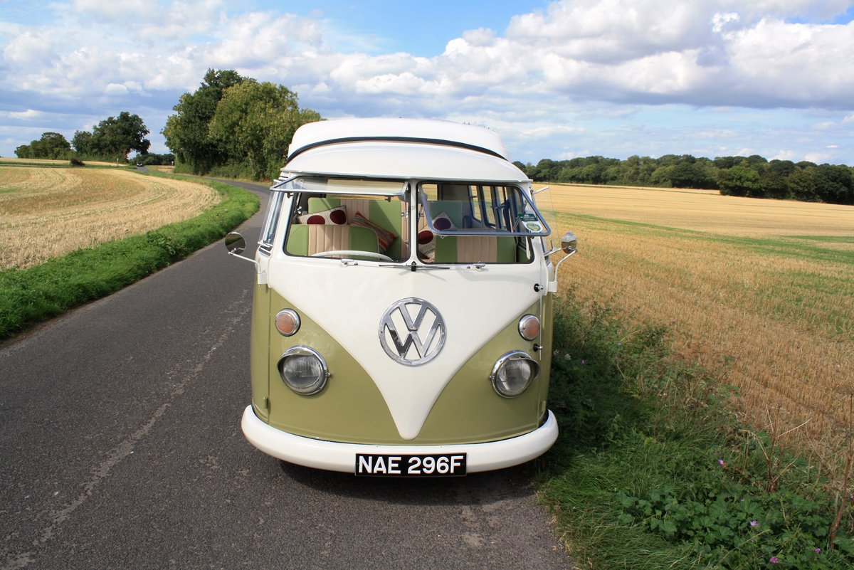 1967 VW Split Screen Camper Van – Pop Top RHD Walk Through. For Sale (picture 6 of 6)