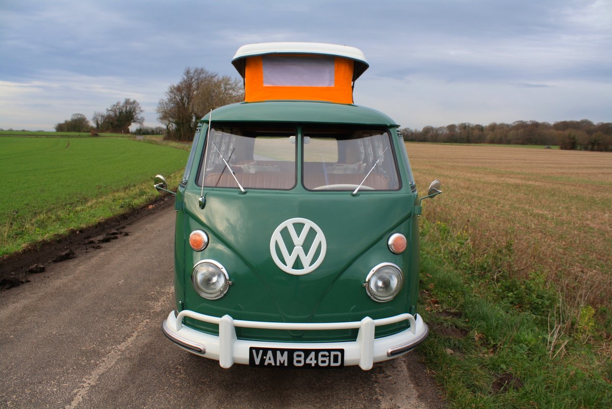 1966 VW Split Screen Camper Van. Pop Top. Rare Special Order For Sale (picture 2 of 6)