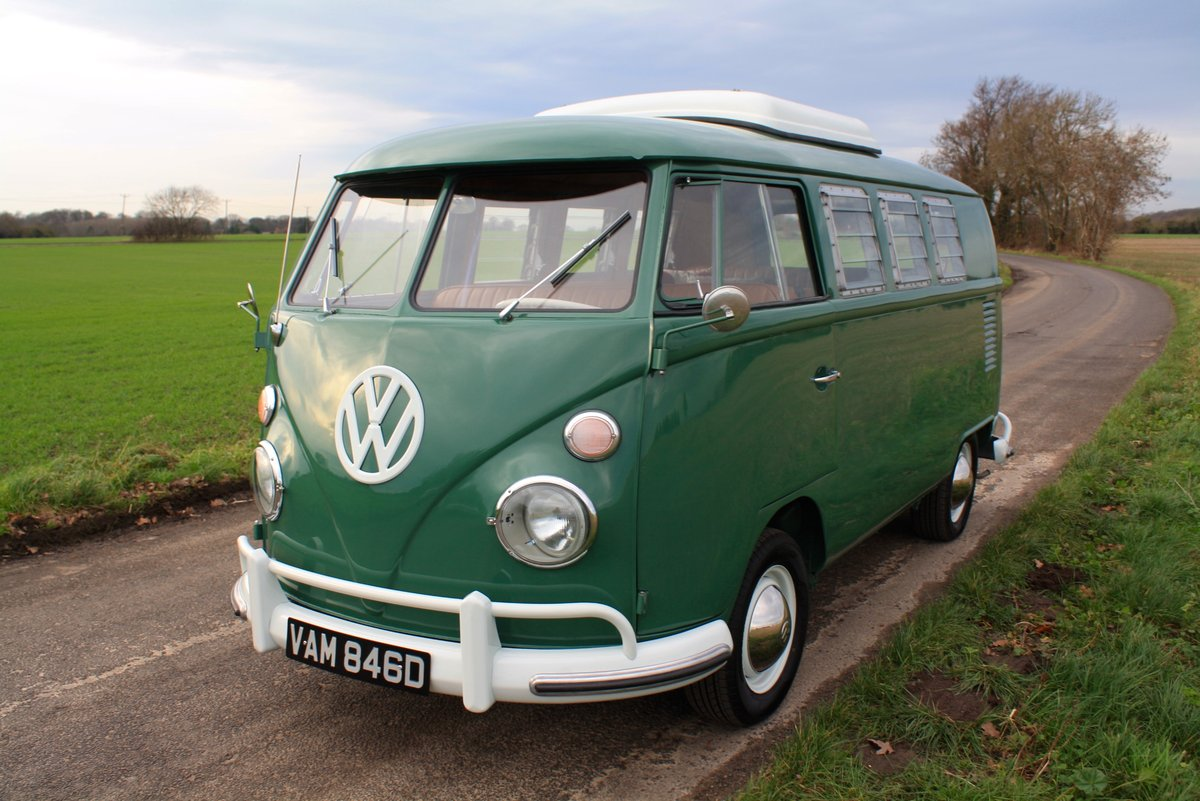 1966 VW Split Screen Camper Van. Pop Top. Rare Special Order For Sale (picture 3 of 6)
