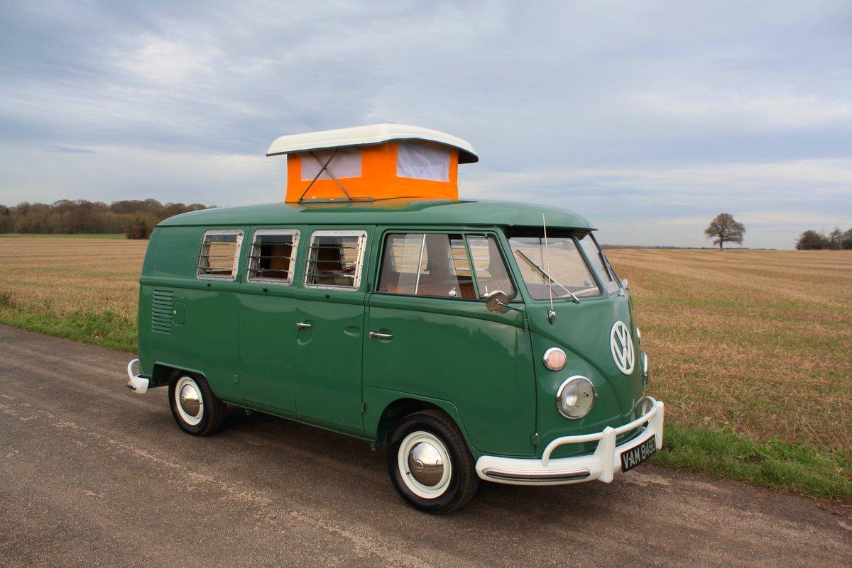1966 VW Split Screen Camper Van. Pop Top. Rare Special Order For Sale (picture 1 of 6)