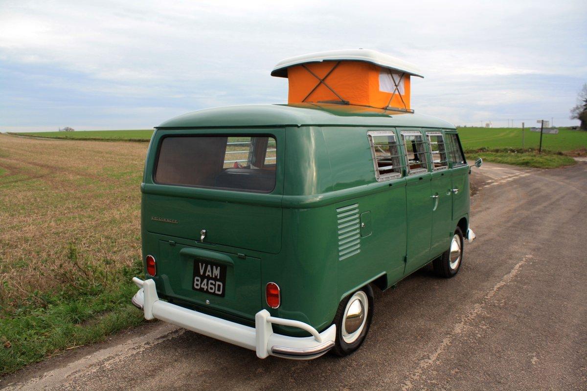 1966 VW Split Screen Camper Van. Pop Top. Rare Special Order For Sale (picture 3 of 6)