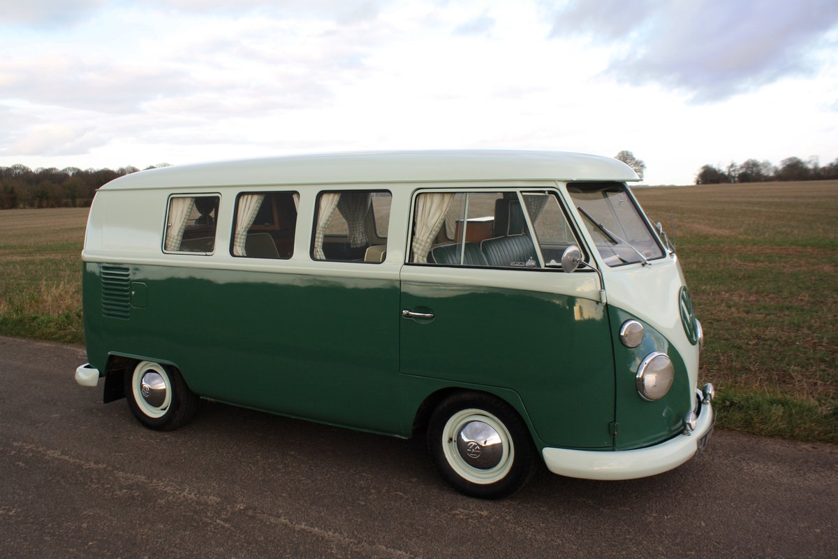 1965 VW Split Screen Camper Van. Factory RHD. Devon Bus For Sale (picture 1 of 6)