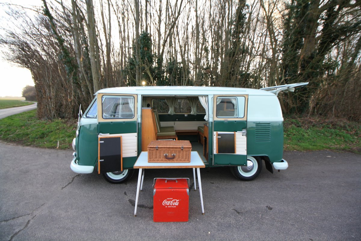 1965 VW Split Screen Camper Van. Factory RHD. Devon Bus For Sale (picture 3 of 6)