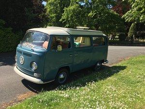1968 VW T2 Earlybay Devon Campervan in Neptune Blu For Sale
