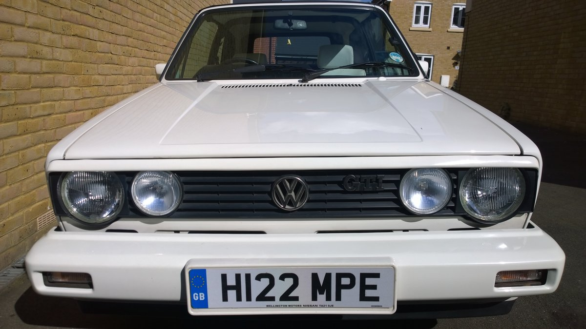 1990 MK1 Golf GTI 1.8  Cabriolet, 69k miles SOLD (picture 3 of 5)