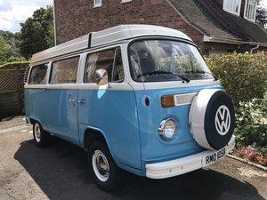 1977 Beautiful blue camper T2 Bay pop-top For Sale