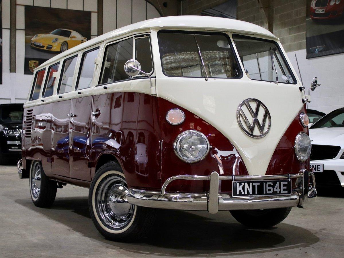 1967 E Reg Volkswagen T2 1600CC Split Screen Camper Van For Sale (picture 1 of 6)