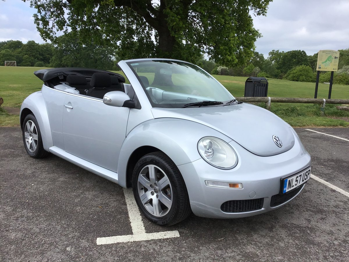 2007 VOLKSWAGEN BEETLE LUNA 1.6 Convertible Low mileage For Sale (picture 1 of 6)
