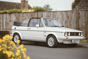 1986 VW Golf GTi MK1 Christmas Cabriolet - Only 1 owner For Sale by Auction