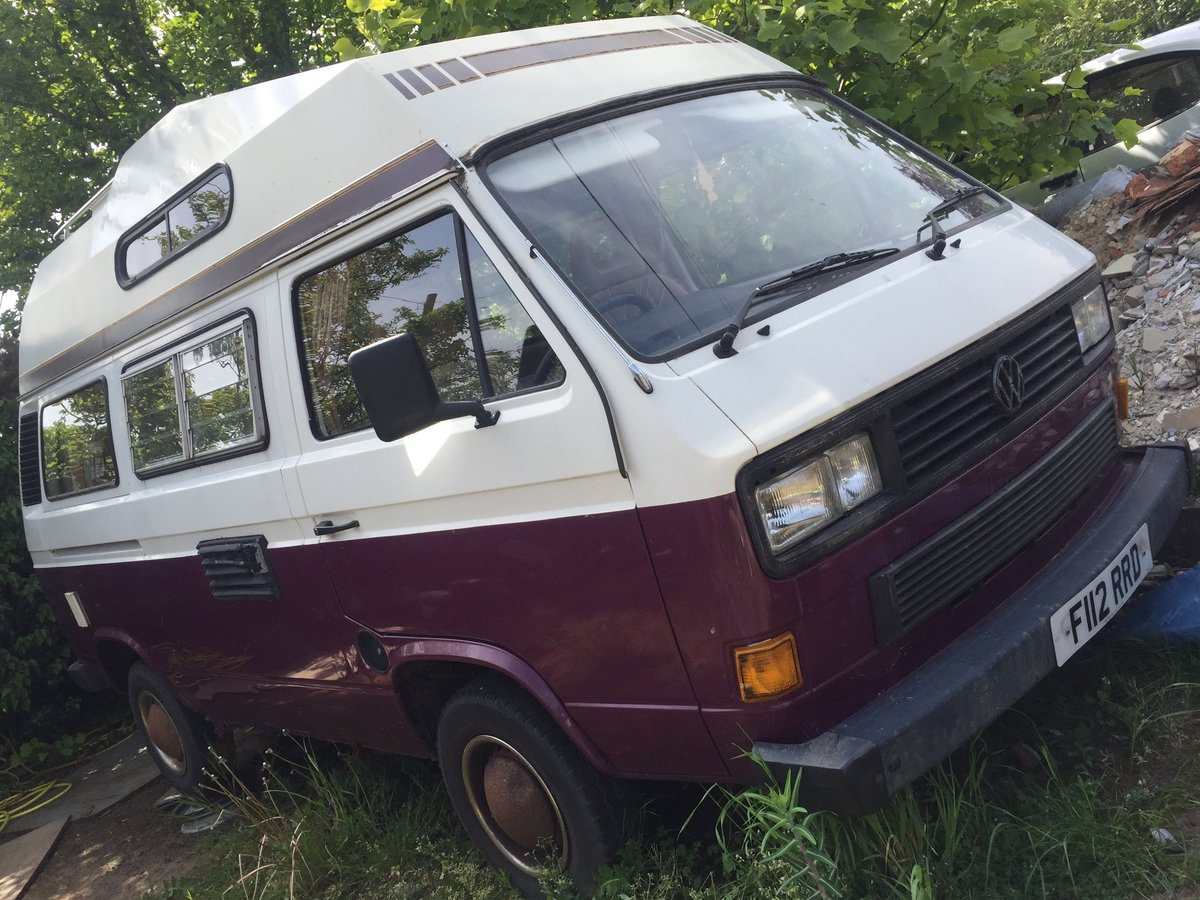 1989 VW T25 CAMPER VAN 1.9 Diesel, 12 MONTHS MOT For Sale (picture 1 of 6)