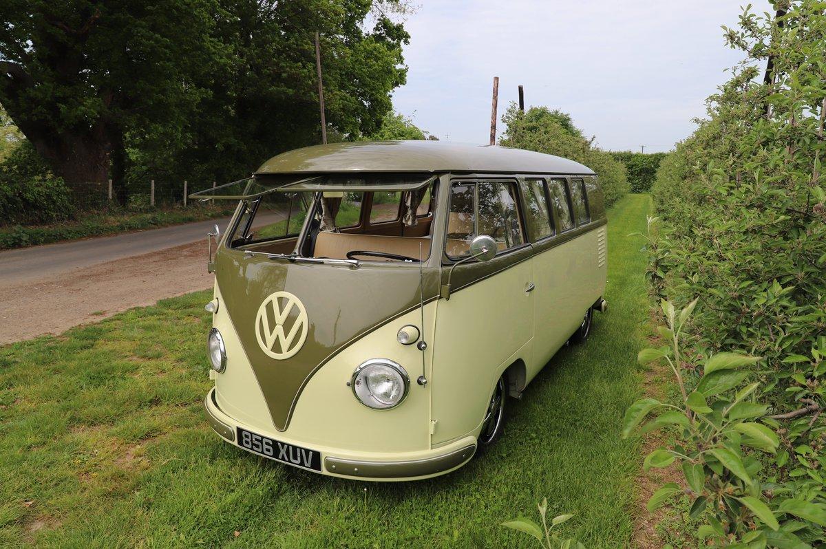 1957 VW Split Screen Camper Van. Beautiful early bus! SOLD (picture 1 of 6)
