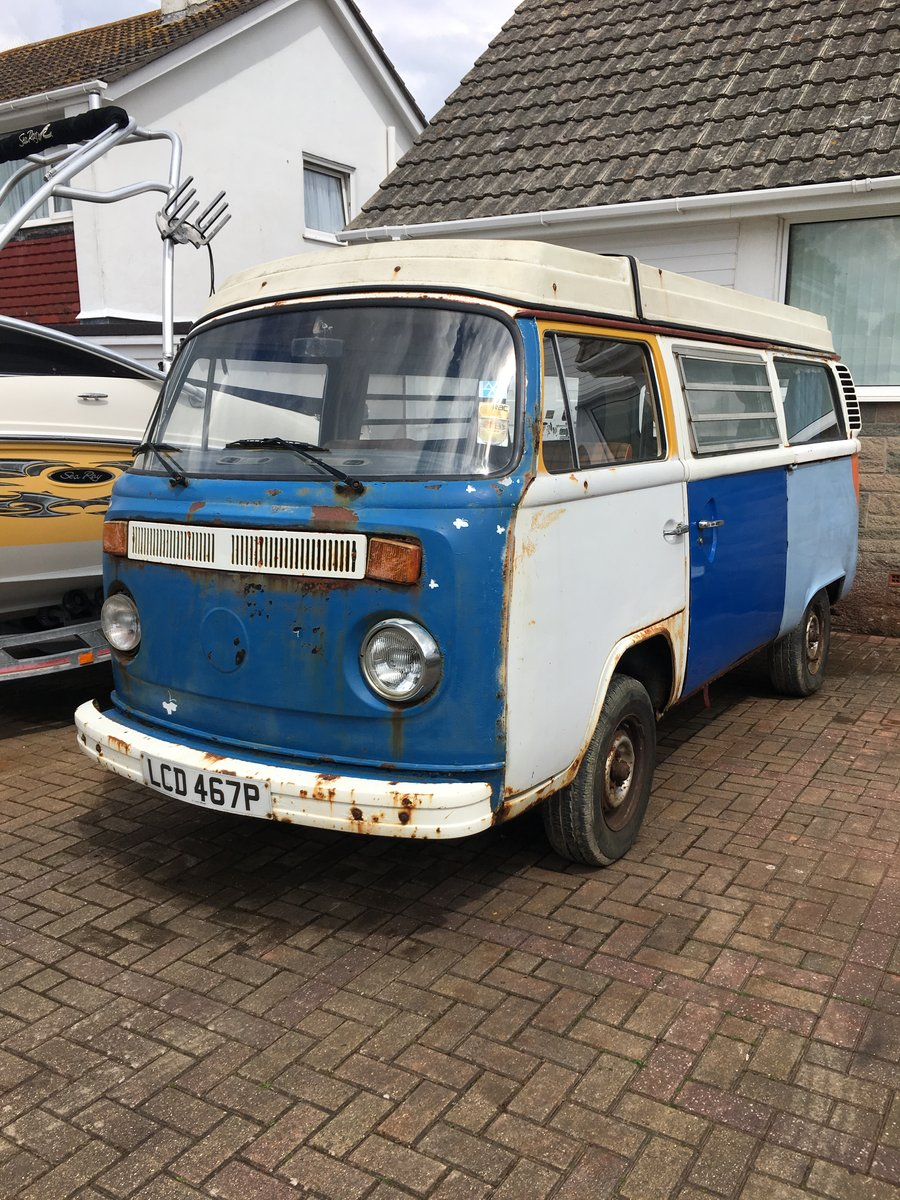 1975 VW T2 CAMPERVAN For Sale (picture 1 of 4)