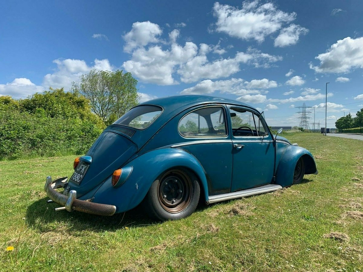 Volkswagen Beetle Slammed Patina Sold Car And
