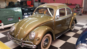 1957 Volkswagen Beetle = Go Green(~)Tan driver $35k For Sale