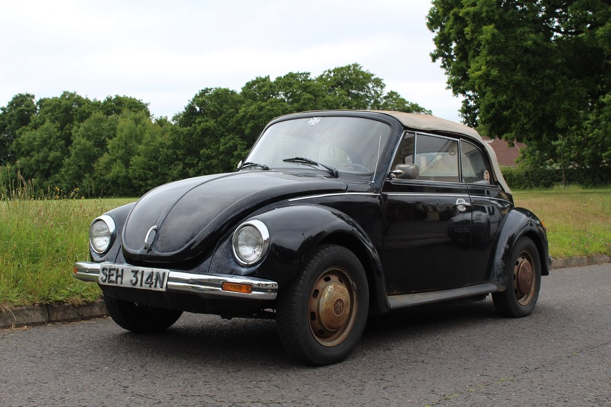 VW Beetle Karmann Convertible 1974- To be auctioned 26-07-19 For Sale by Auction (picture 1 of 6)