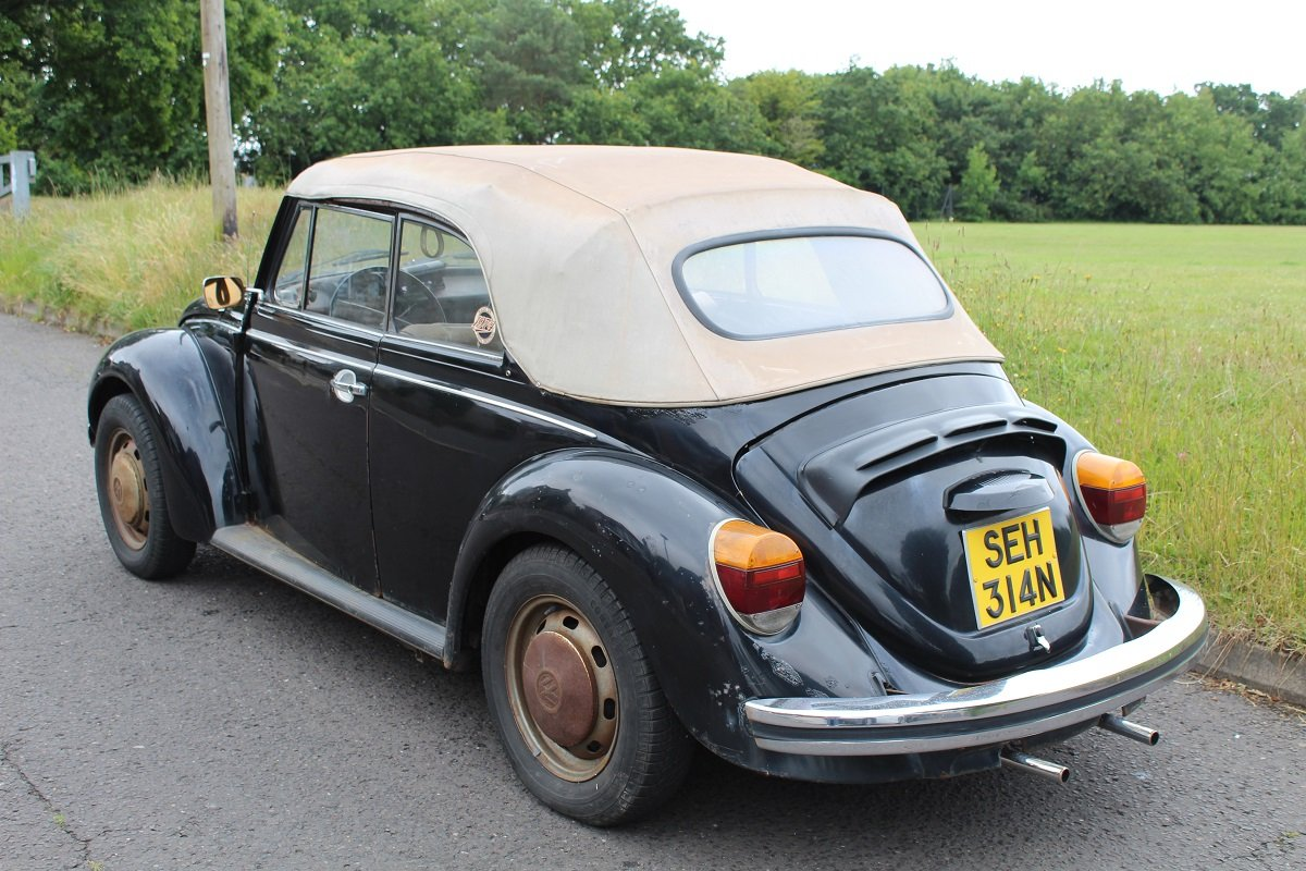 VW Beetle Karmann Convertible 1974- To be auctioned 26-07-19 For Sale by Auction (picture 2 of 6)