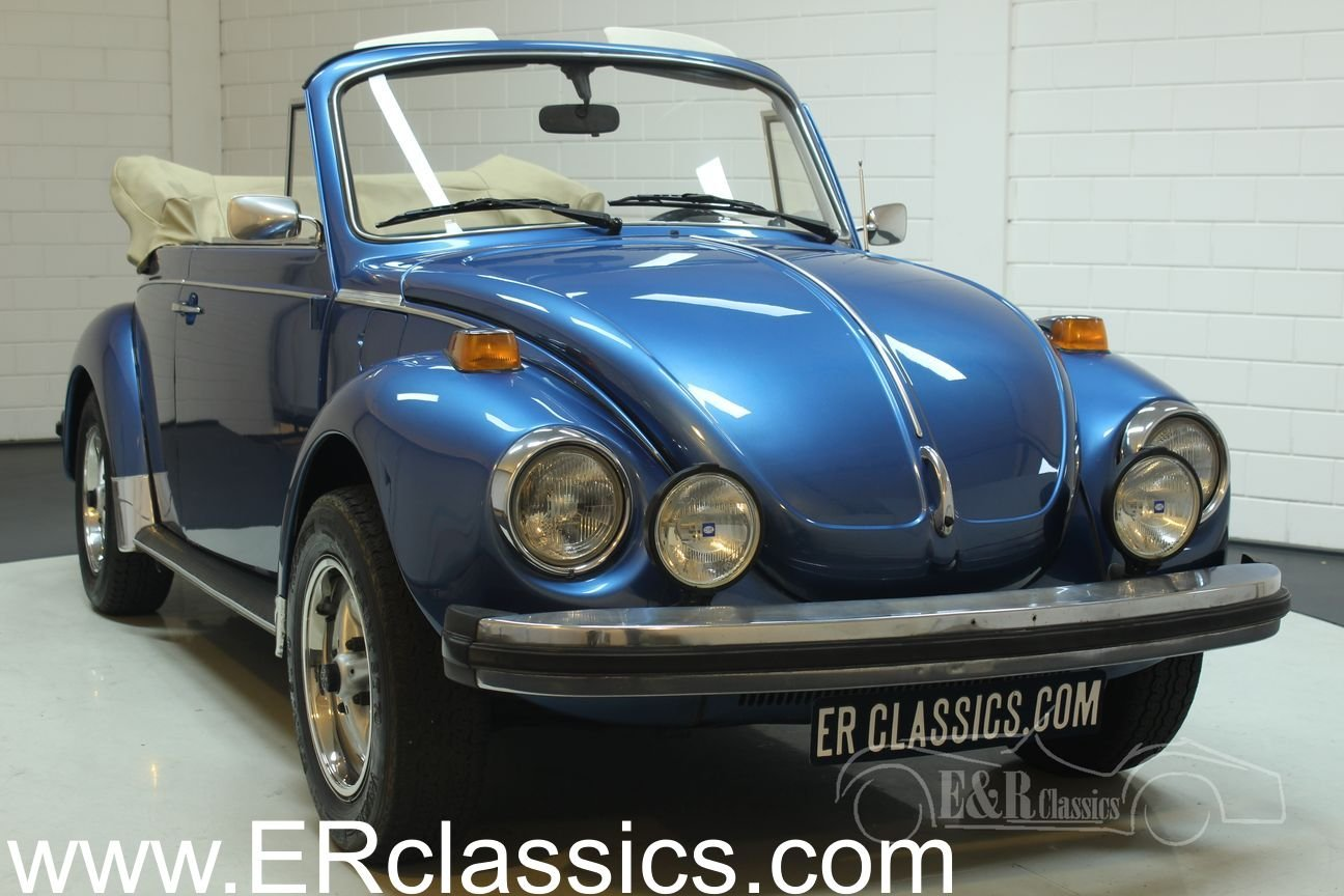 Volkswagen Beetle Convertible 1978 Ancona Blue Metallic For Sale (picture 1 of 6)