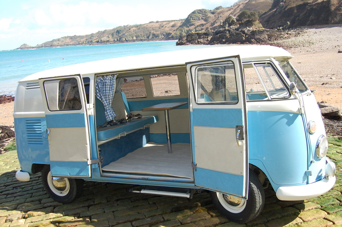 1967 Volkswagen Spilt Screen Day Camper from Jersey Camper Hire For Hire (picture 2 of 6)