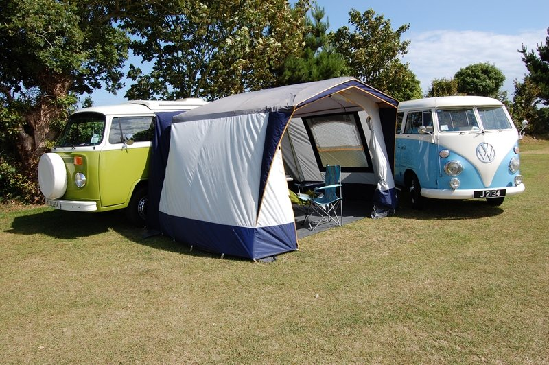 1977 VW T2 Devon Camper Van from Jersey Camper Hire For Hire (picture 1 of 6)