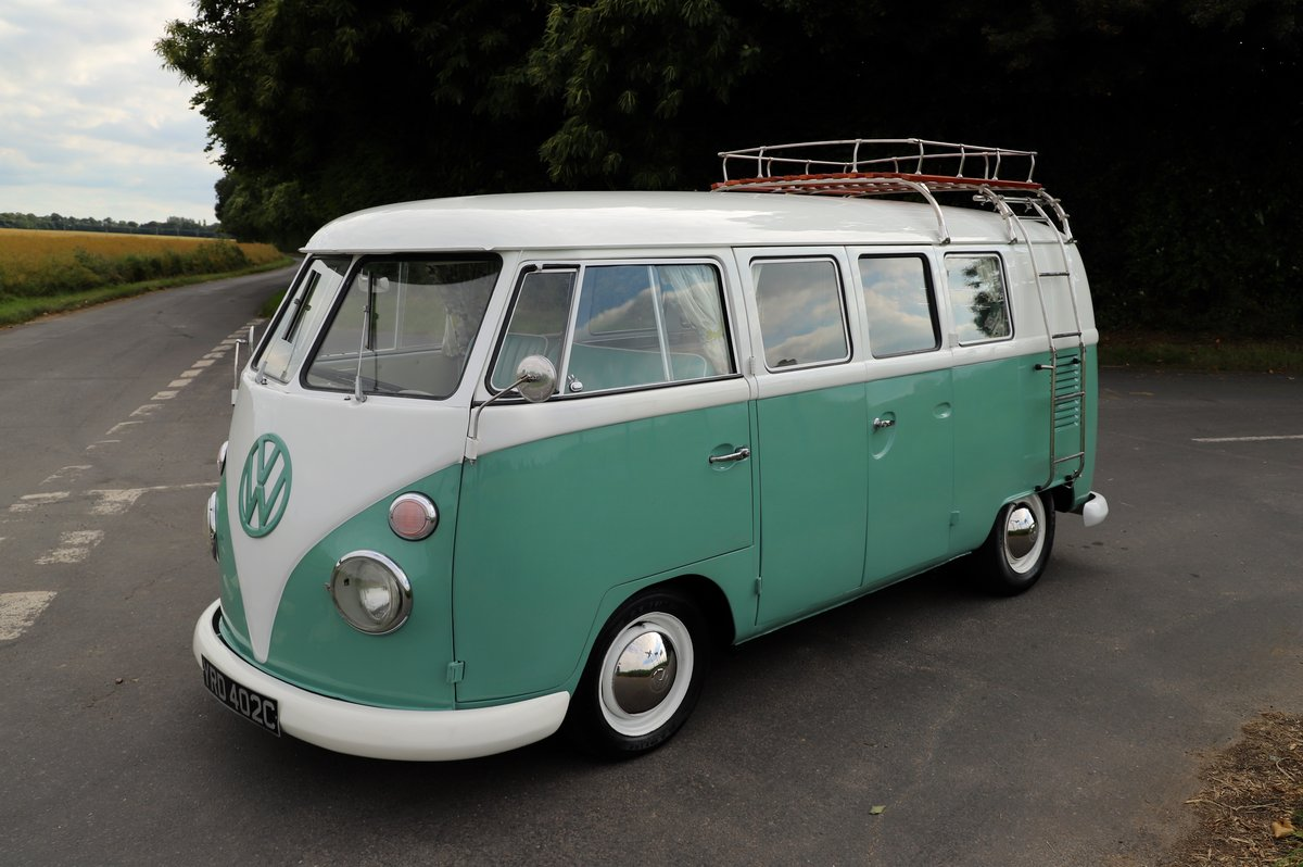 1966 VW Split Screen Camper Van. Right Hand Drive. Restored. For Sale (picture 1 of 6)