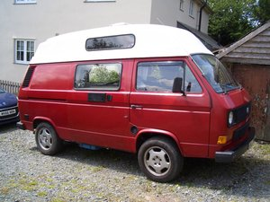 1986 Vw t25 1.9 turbo diesel hightop  campervan SOLD