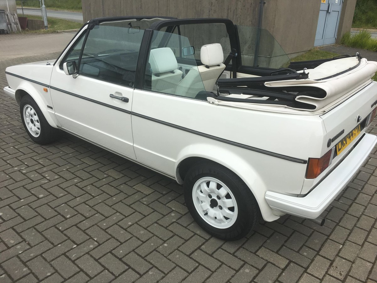 MK1 Vw Golf GTI  cabriolet, 1985 triple white For Sale (picture 5 of 6)