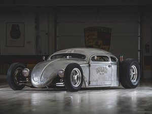 """1956 Volkswagen Beetle Outlaw """"Death"""" by Franz Muhr For Sale by Auction"""