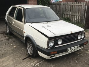 2 x 1990 VW Golf GTI White 1.8 8V Project For Sale