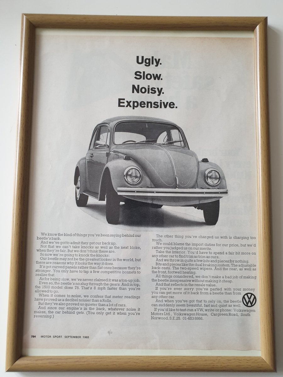 Original 1968 VW Beetle Advert For Sale (picture 1 of 1)