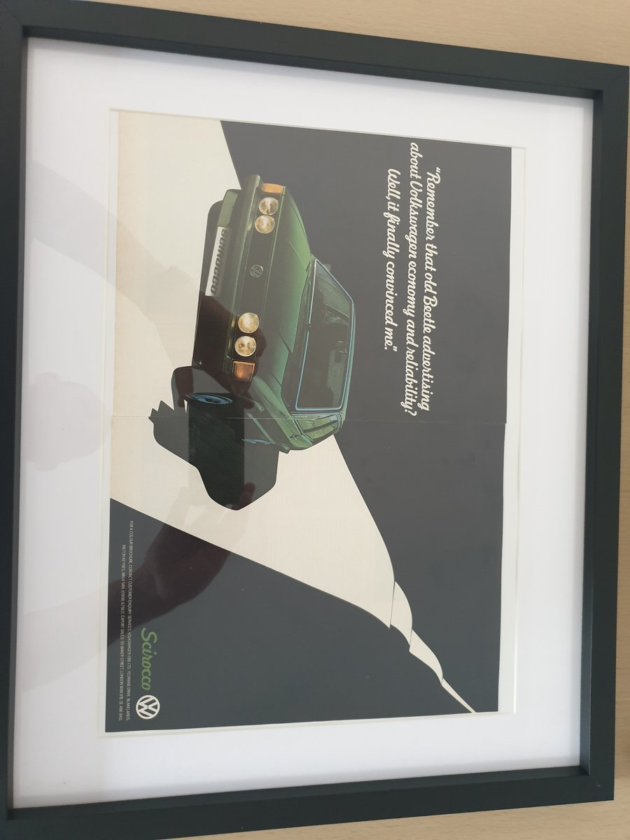 1980 VW Scirocco advert Original  For Sale (picture 1 of 3)