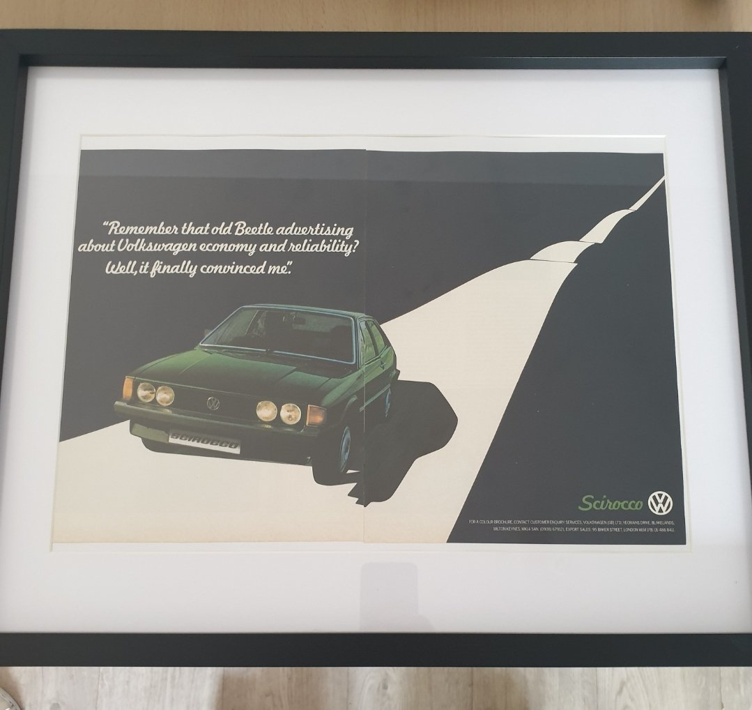 1980 VW Scirocco advert Original  For Sale (picture 2 of 3)