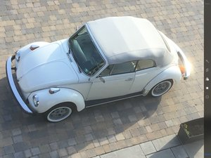 1979 Volkswagen Beetle Convertible Rare Triple White  For Sale