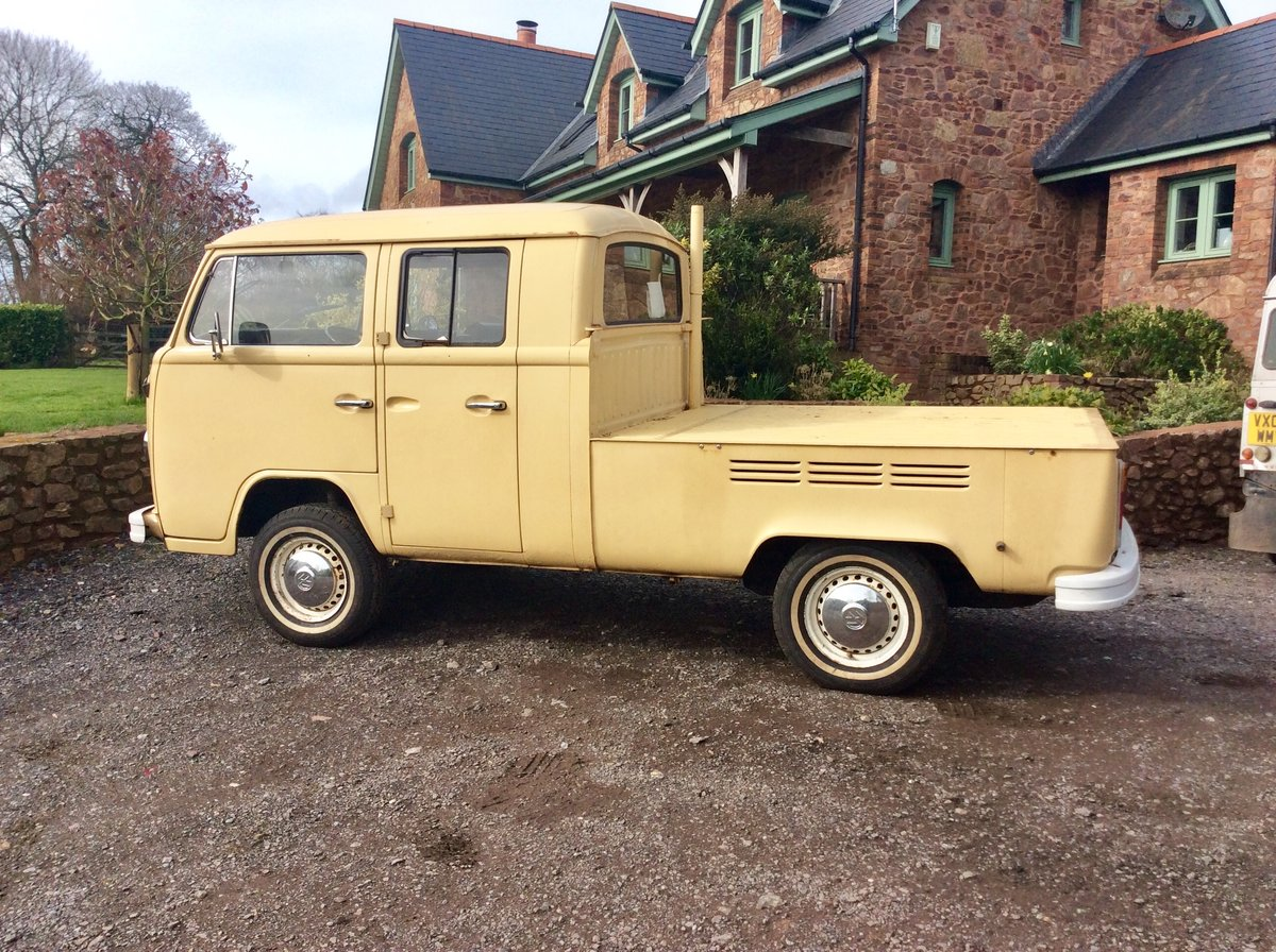 """1978 VW T2 """"Dokker"""" Double Cab Pick-up Rare RHD For Sale (picture 2 of 6)"""